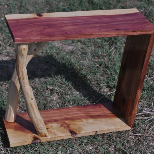 small cedar shelves modern country rustic