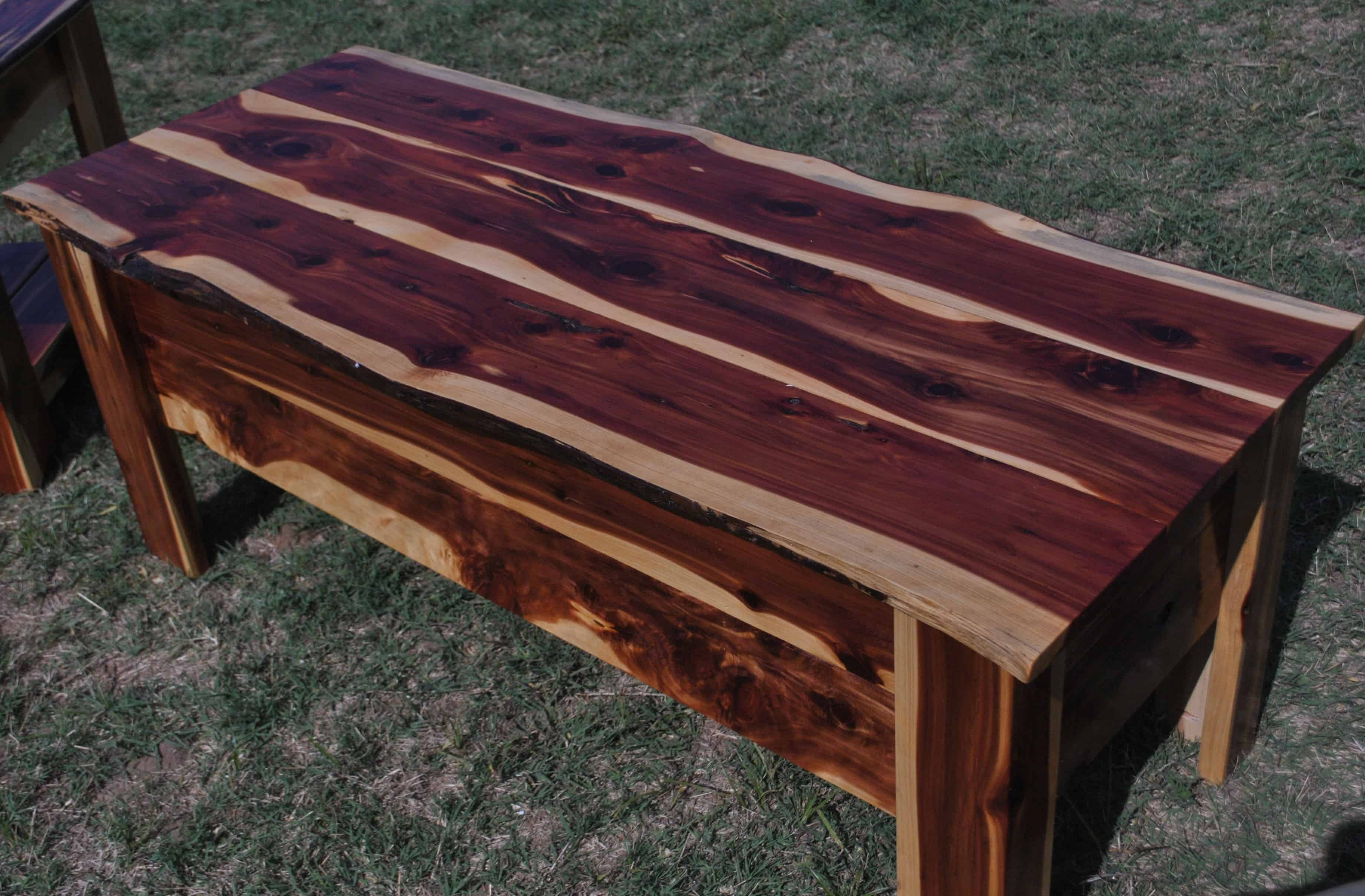 Lovely Red Cedar Coffee Table