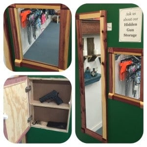 Hidden Gun Storage Mirror
