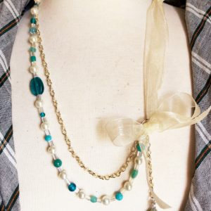 turquoise Ivory Multi Strand necklace